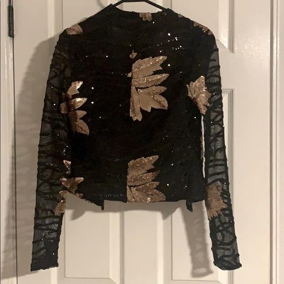 Brand new matching jacket & shorts black & copper